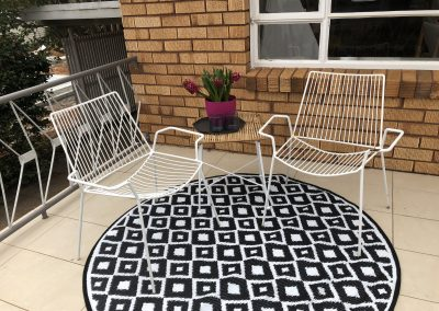 Outside seating area | Outside home staging | Outside seating property styling | Canberra