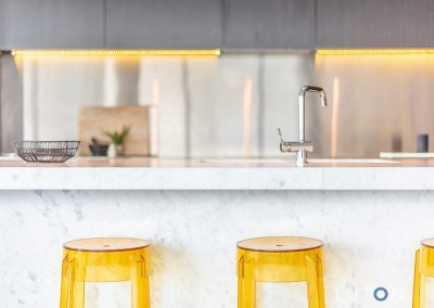 Kitchen home staging | Kitchen styling for gaining maximum property value | Modern home staging | Grey & yellow | Staged By Flynn | Home Staging | Property Styling | Canberra ACT
